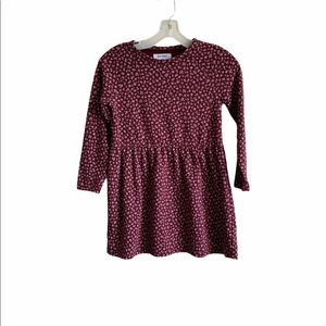 Old Navy Girls Wine Stain Skater Dress Medium